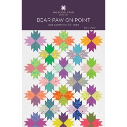 Patchwork Mønster - Bear paw on point