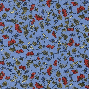 Small Viney Floral Blue