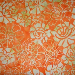 orange batikstif med roser