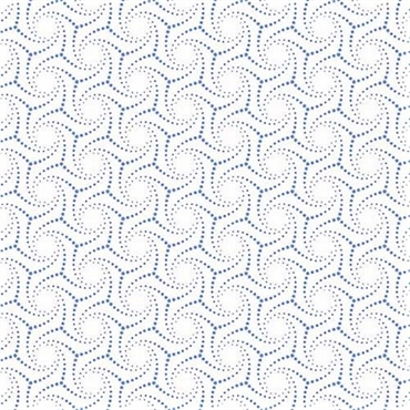 Patchworkstof - Dotted swirl white