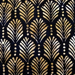 Batikstof - Palmtexture Black Brown