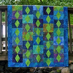 emerald city quilt tæppe patchworkmønster
