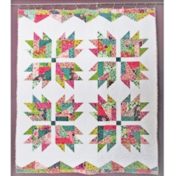 Patchwork Mønster - Scrap Crazy Bear Paw Quilt
