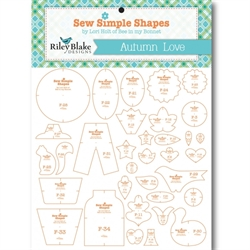 Lori Holt sew simple shapes skabeloner autumn love