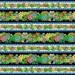 Patchworkstof - Tropical flair stripe