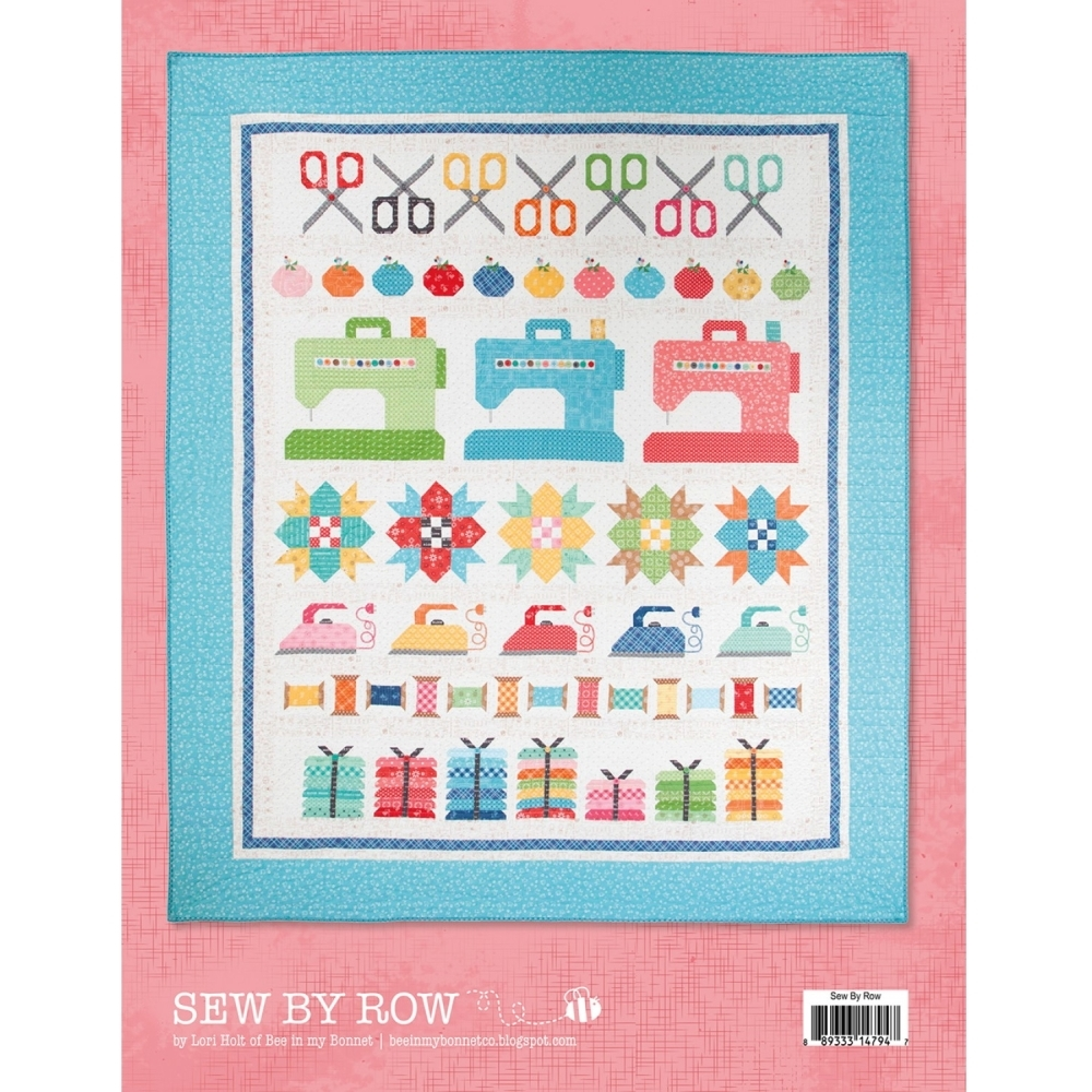 Lori Holt  Sew by row patchworkmønster bagside